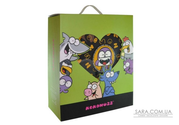 Рюкзак дошкільний KOKONUZZ-BE HAPPY з восьминогом чорно-жовтий