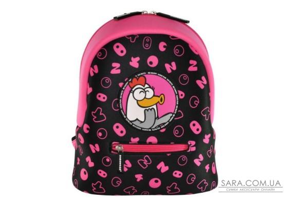 Рюкзак дошкільний KOKONUZZ-BE HAPPY з куркою чорно-малиновий