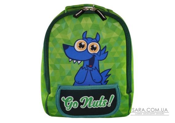 Рюкзак дошкільний KOKONUZZ-GO NUTS з собакою салатовий