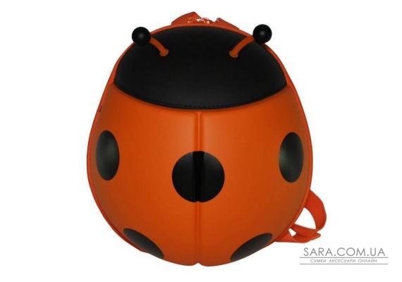 Рюкзак дошкільний SUPERCUTE у вигляді божої корівки помаранчевий
