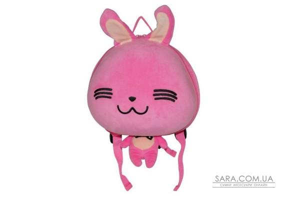Рюкзак дошкільний SUPERCUTE у вигляді зайчика рожевий