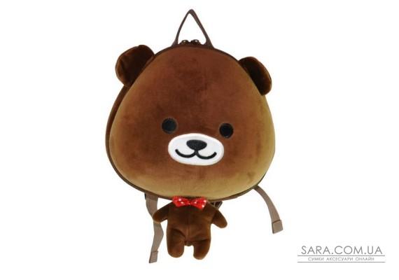 Рюкзак дошкільний SUPERCUTE у вигляді ведмедика коричневий