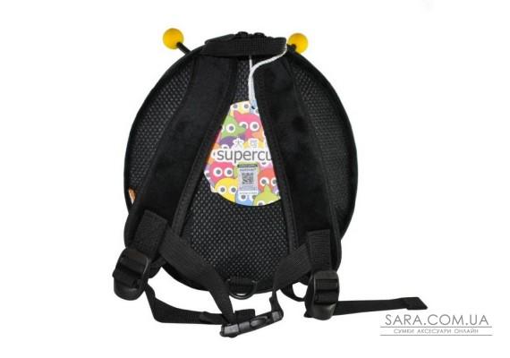 Рюкзак дошкільний SUPERCUTE у вигляді бджоли чорний з золотим