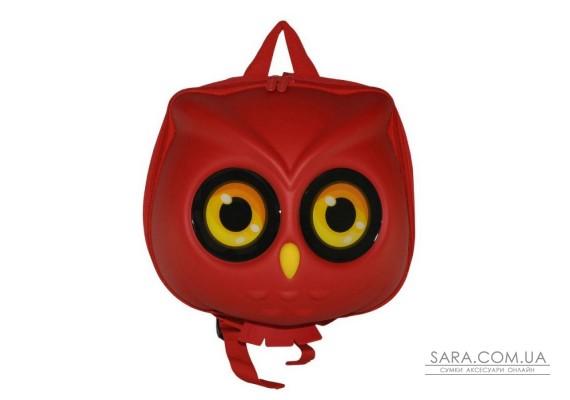 Рюкзак дошкільний SUPERCUTE у вигляді сови червоний