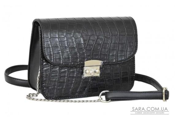 650 сумка крокодил чорний Lucherino