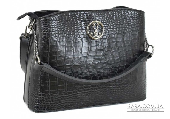 628 сумка крокодил чорна Lucherino