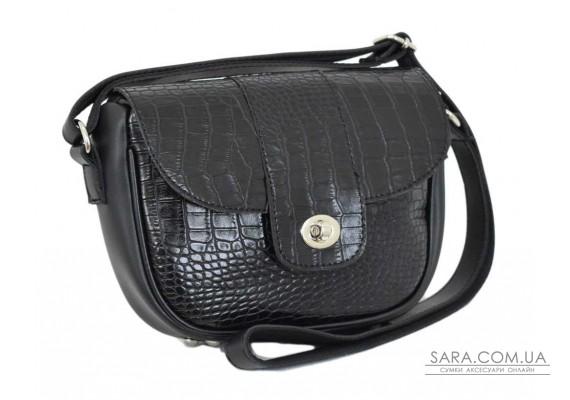 665 сумка крокодил чорна Lucherino