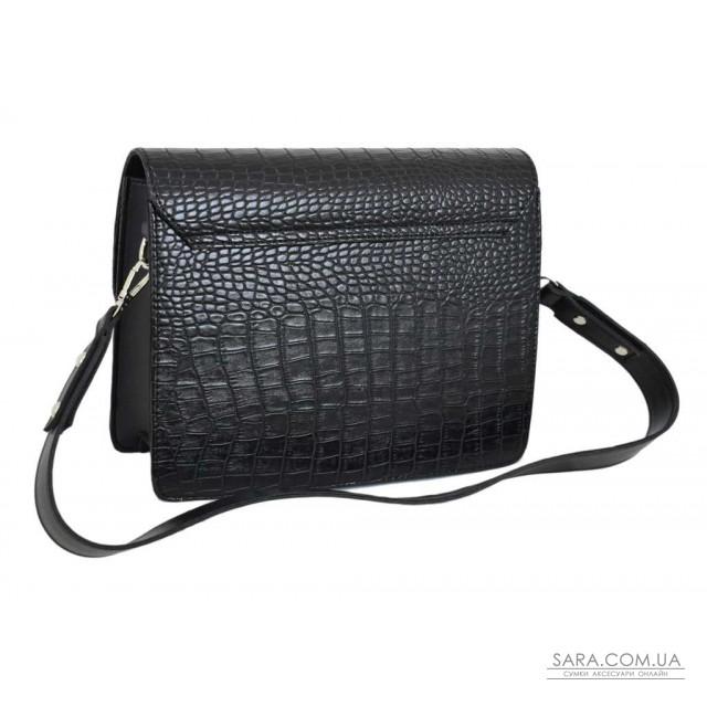 Купити 637 сумка крокодил чорна Lucherino дешево. Україна