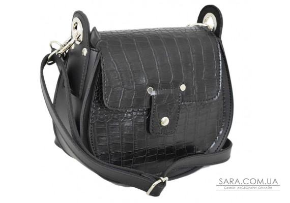 662 сумка крокодил чорна Lucherino