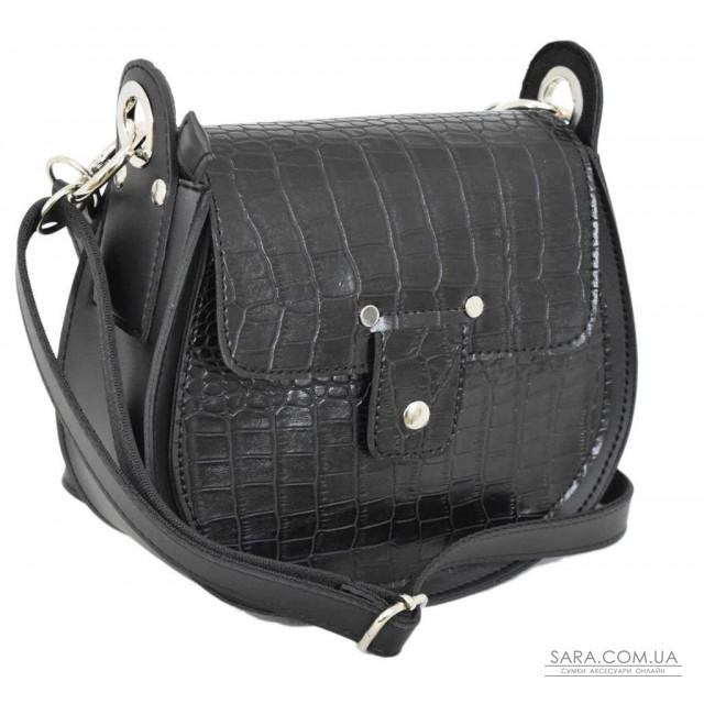 Купити 662 сумка крокодил чорна Lucherino дешево. Україна