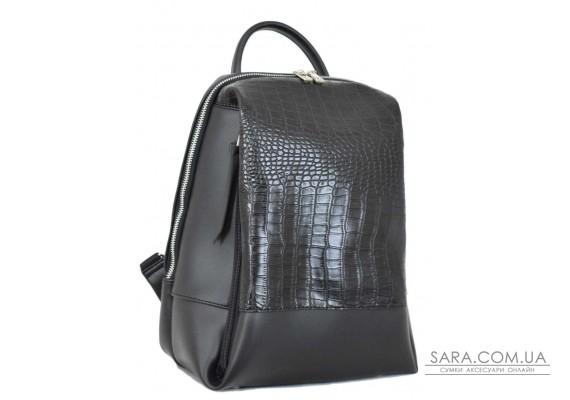 606 рюкзак крокодил чорний Lucherino
