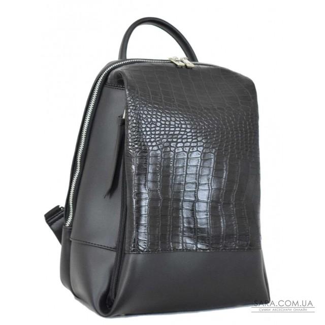 Купити 606 рюкзак крокодил чорний Lucherino дешево. Україна