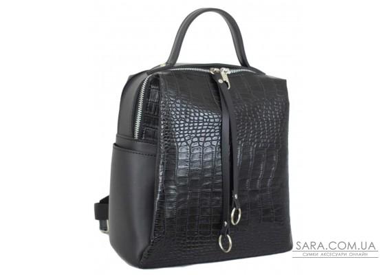 660 рюкзак крокодил чорний Lucherino