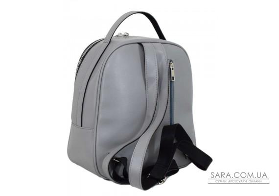 664 рюкзак замш сірий Lucherino