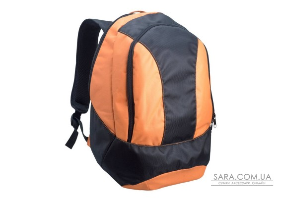 Рюкзак міський Spring чорний c помаранчевим Surikat
