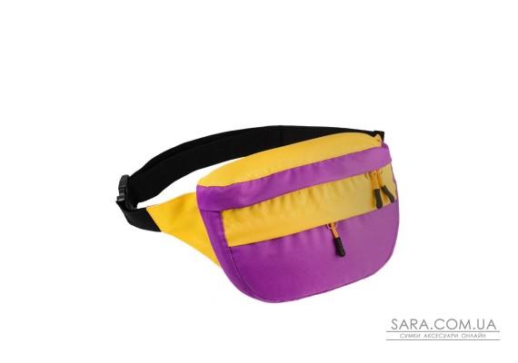 Поясна сумка Surikat Tornado бузковий-жовтий Surikat