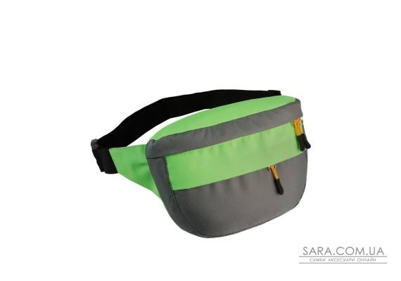 Поясна сумка Surikat Tornado сірий-салатовий Surikat
