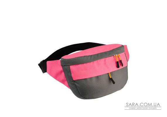 Поясна сумка Surikat Tornado сірий рожевий Surikat