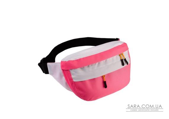 Поясна сумка Surikat Tornado рожевий-білий Surikat