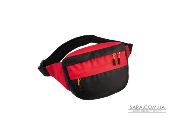 Поясна сумка Surikat Tornado чорний-червоний Surikat