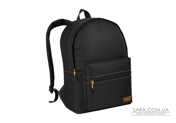 Рюкзак міський City EKO чорний (жовта рядок) Surikat