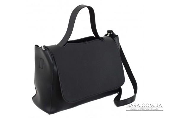 668 сумка чорна тиснення Lucherino