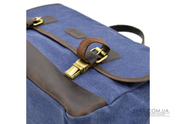 Портфель чоловічий з тканини канваc з шкіряними вставками RK-7880-4lx TARWA
