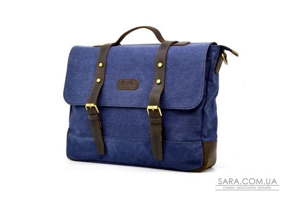 Чоловіча сумка-портфель з парусини і шкіри RK-0001-4lx TARWA