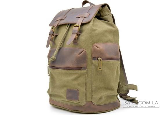 Міський рюкзак мікс з парусини і шкіри RH-0010-4lx від бренду TARWA