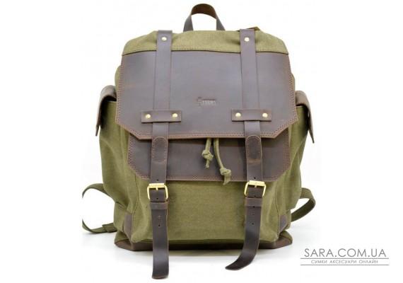 Міський рюкзак Урбан в комбінації тканина + шкіра TARWA RН-6680-4lx