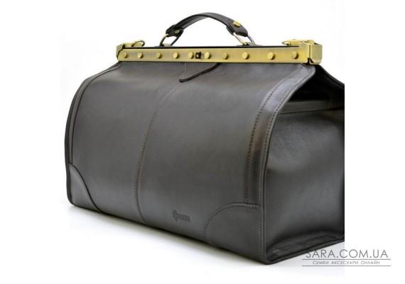Саквояж з телячої шкіри темно-коричневий бренд TARWA TС-1221-4lx