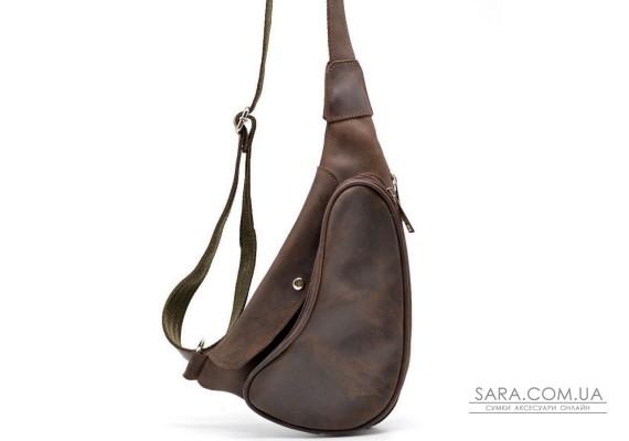 Шкіряний рюкзак на одне плече з кінської шкіри RC-3026-3md бренд Tarwa
