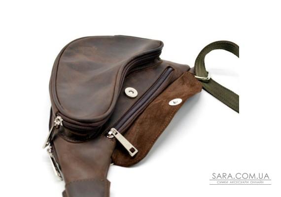 Кожаный рюкзак на одно плечо из лошадиной кожи RC-3026-3md бренд Tarwa
