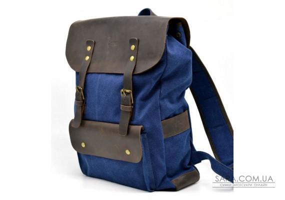 Рюкзак унісекс парусина + шкіра RK-9001-4lx бренду TARWA