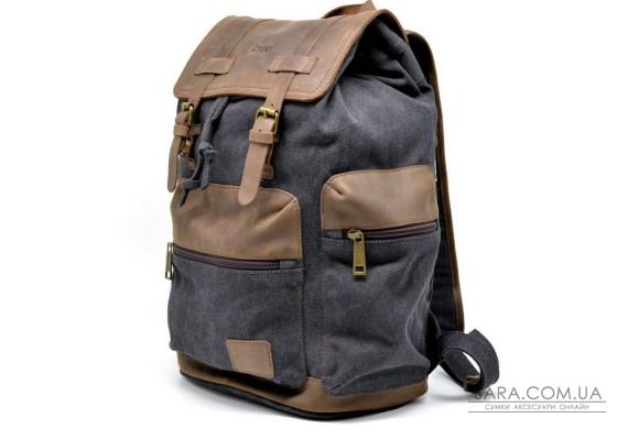 TARWA RG-0010-4lx - міський рюкзак з кінської шкіри і парусини