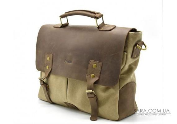 Чоловіча сумка з парусини з шкіряними вставками RC-3960-4lx бренду TARWA