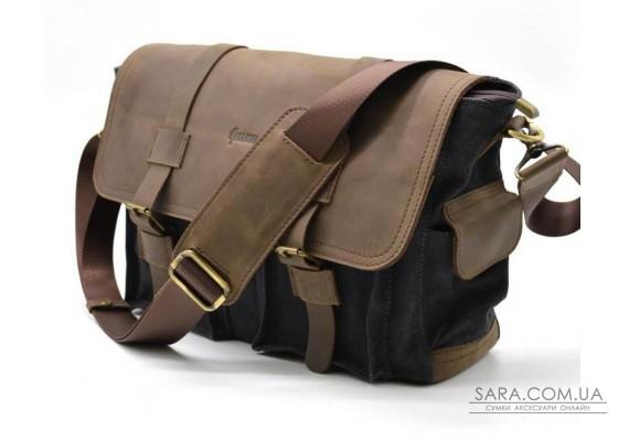 Мужская сумка через плечо парусина+кожа RG-6690-4lx бренда Tarwa