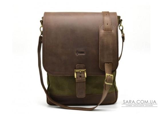 "Мужская сумка через плечо, комбинация кожи и парусины ""Canvas"" RH-1808-4lx бренда Tarwa"