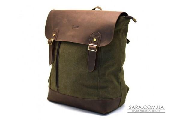 Рюкзак міський, парусина + шкіра RH-3880-3md від бренду TARWA