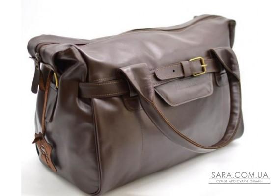 Дорожня шкіряна сумка GC-7079-3md бренду TARWA, коричневого кольору