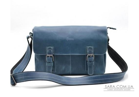 Мессенджер из кожи крейзи хорс, наплечная сумка TARWA, RK-6002-3md