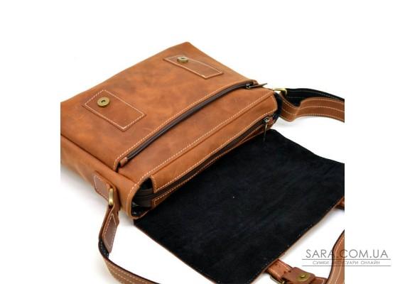 Мессенджер из кожи крейзи хорс, наплечная сумка TARWA, RB-6002-3md