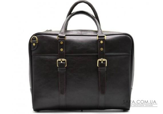 Ділова сумка з ручками TARWA, TC-4764-4lx темно-коричнева