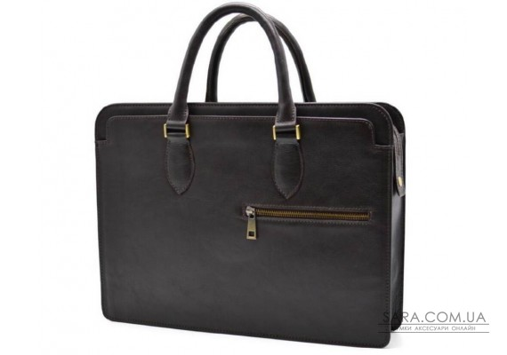 Шкіряний діловий портфель TC-4864-4lx TARWA коричневий