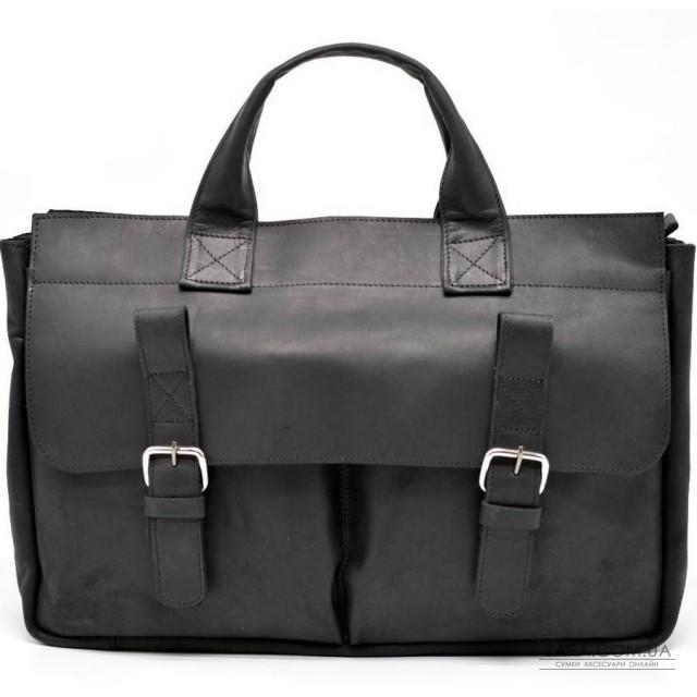 Чоловіча шкіряна сумка RA-7107-1md TARWA, вичинки crazy horse
