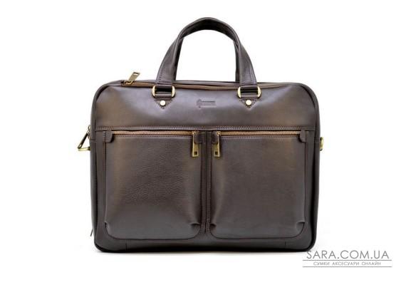 Чоловіча шкіряна сумка для ноутбука і документів TARWA TC-4664-4lx