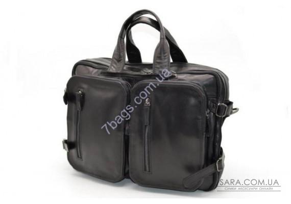 Шкіряна сумка з кишенями GA-7014-1md TARWA