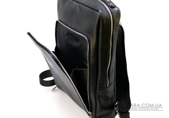 """Шкіряний рюкзак для ноутбука 15 """"дюймів TA-1240-4lx в чорному кольорі"""