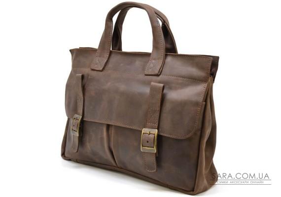 Чоловіча сумка портфель для ноутбука зі шкіри crazy horse RC-7107-1md TARWA