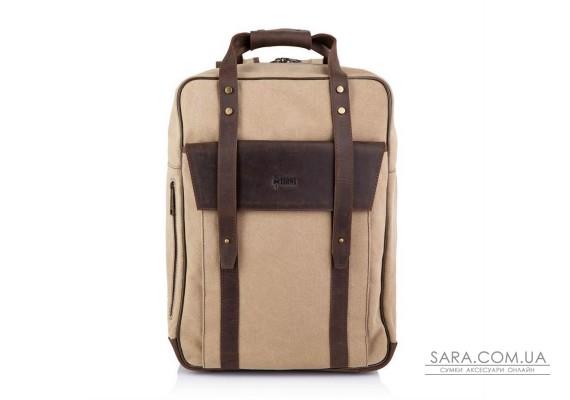 Сумка-рюкзак трансформер, канвас і шкіра RC-3943-4lx TARWA